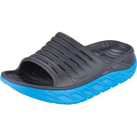 Hoka One One Ora Recovery Slide Sandalias Mujer, ebony/dresden blue